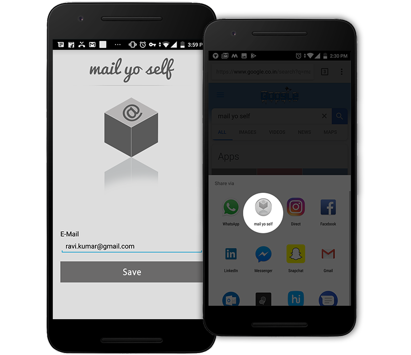 Mailyoself - Mail Yourself Everything