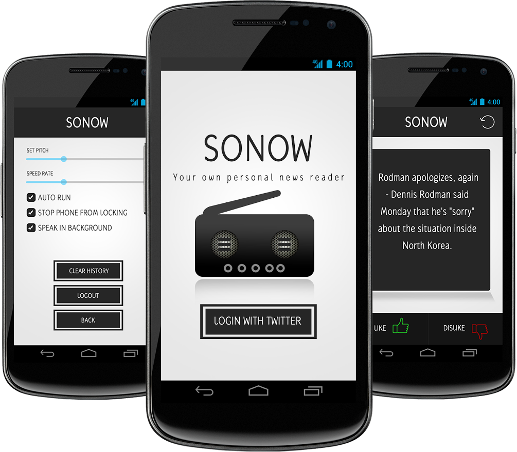 Sonow - Your own personal newsreader.