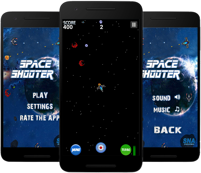 Space Shooter - Fly in the space, Steer n Shoot